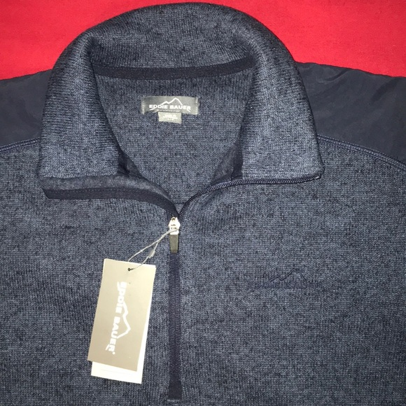 Eddie Bauer Men's whistler 1//4 Zip Pullover  NWT $60